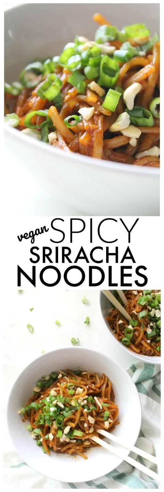 Spicy Vegan Sriracha Noodles Recipe