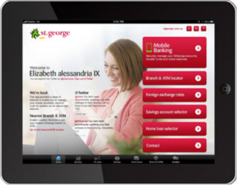 St George Bank pour iPad