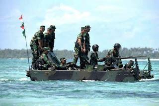 Panglima TNI Tinjau Latihan Antar Kecabangan TNI AD di Natuna