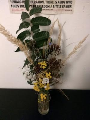 kytica, lúčne kvety, dekorácia