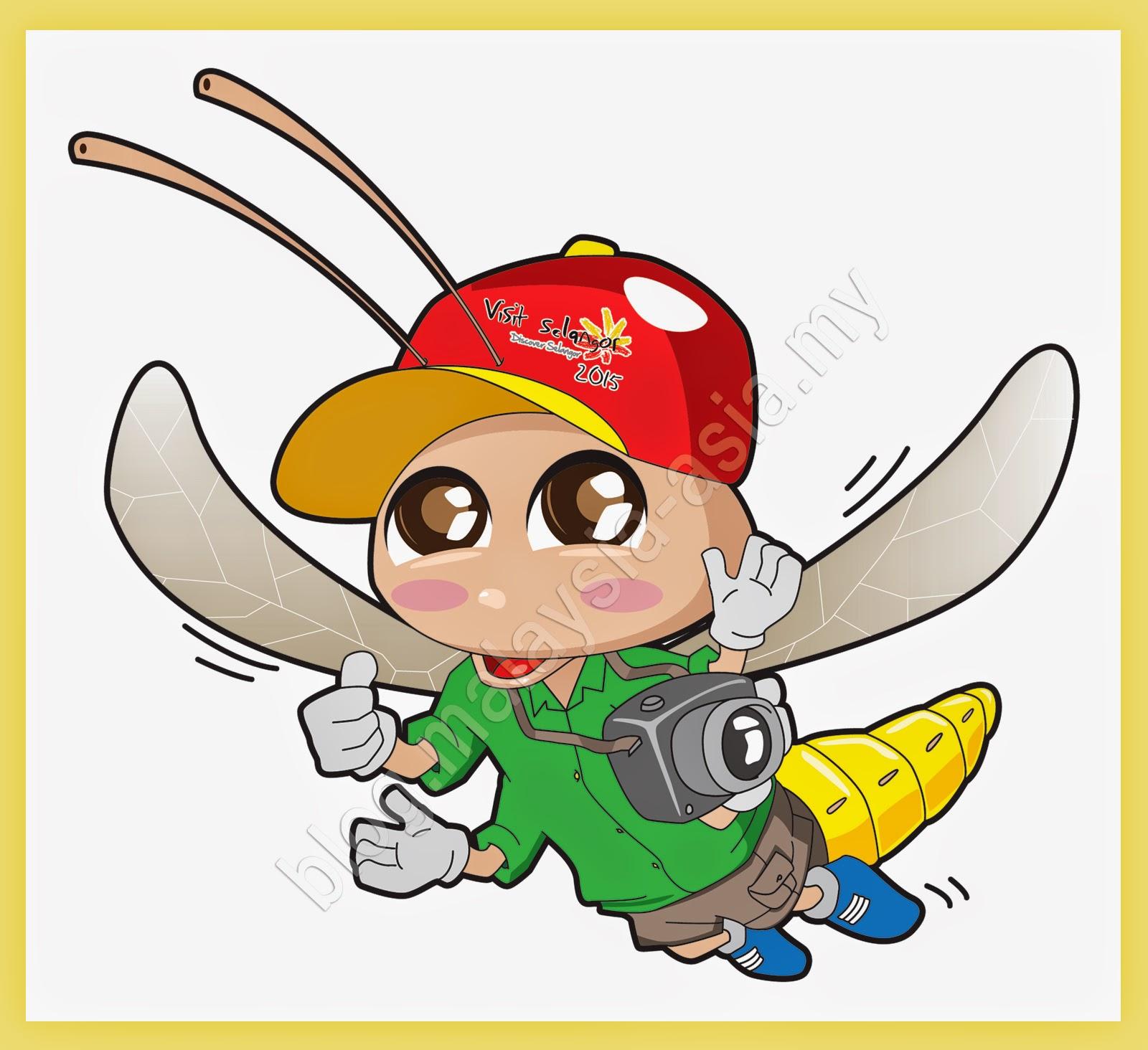 Visit selangor Year 2015 Mascot - Mat Kelip