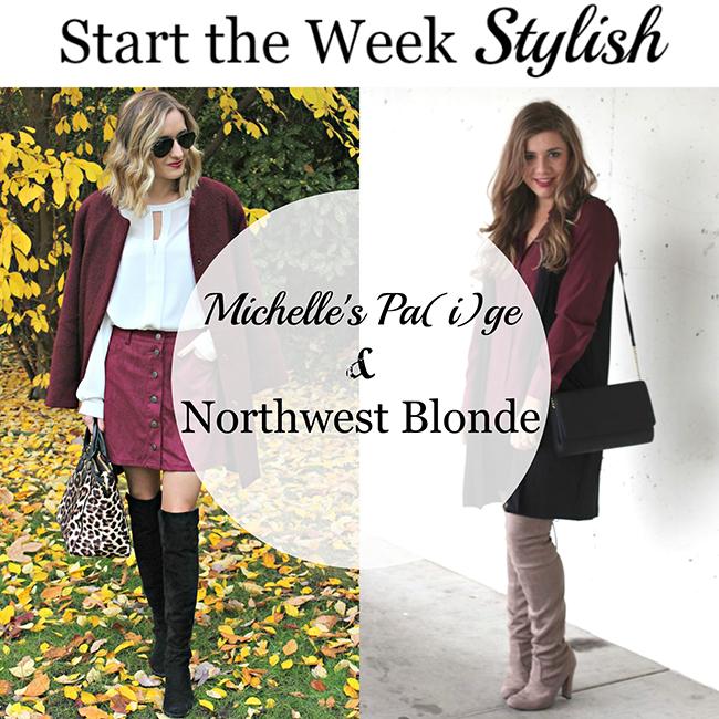 Start the Week Stylish Linkup- Burgundy