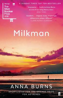 Book cover for Anna Burns's Milkman in the South Manchester, Chorlton, and Didsbury book group