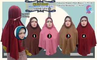 Jilbab serut polos model instan harga ekonomis