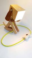 lamparas hechas con madera perrito