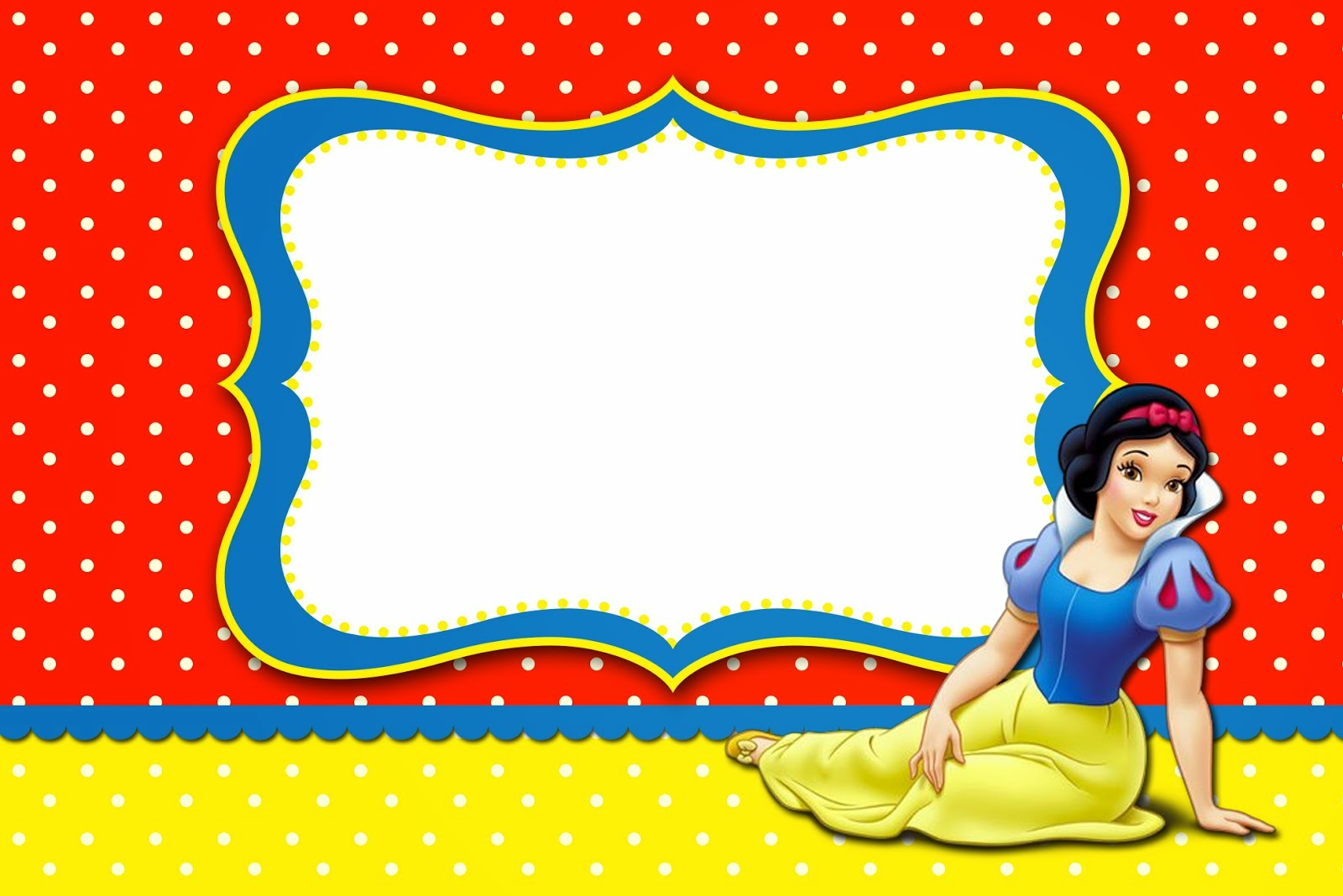 Snow White: Free Printable Invitations, Labels or Cards. - Oh My