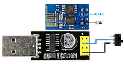 Adaptador USB para ESP8266 - Botão programação