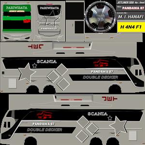 Livery Bussid Pandawa 87 SDD