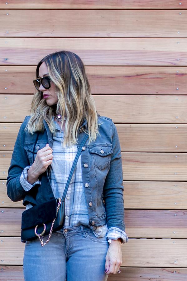 knit hooded denim jacket silver jeans parlor girl