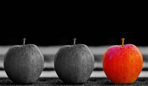 Pommes et différences