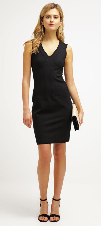 Robe courte fourreau noire Sisley
