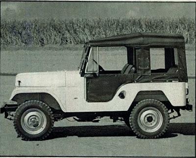 Jeep estilo anos 40 com motor Maverick - 1978