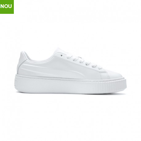 Pantofi sport dama albi Puma PLATFORM SEAMLESS WN S