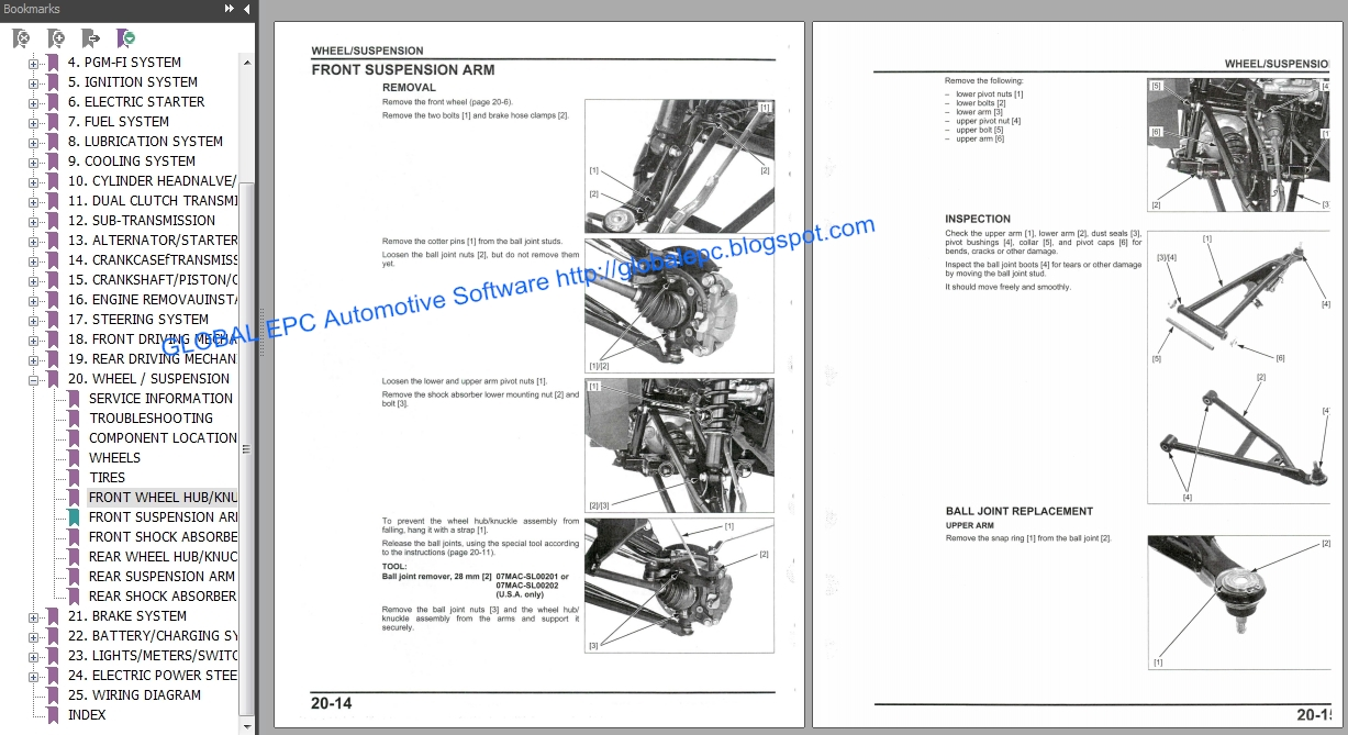 AUTOMOTIVE REPAIR MANUALS: UTV HONDA PIONEER 1000 SERIES