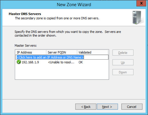 Figure 6: Step 6 of migrating a Linux BIND name server to a Windows Server DNS server.