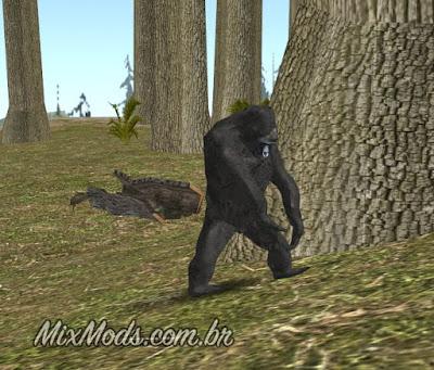 gta sa mod animais selvagens wild animals gorila