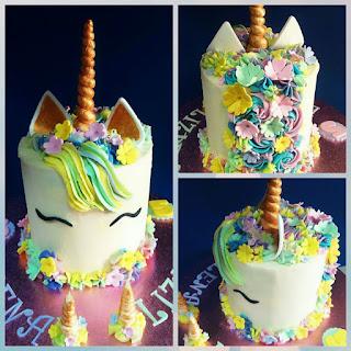 unicorn cake, tarta unicornio, unicornio de buttercream