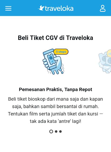 Beli tiket CGV lebih mudah di Traveloka