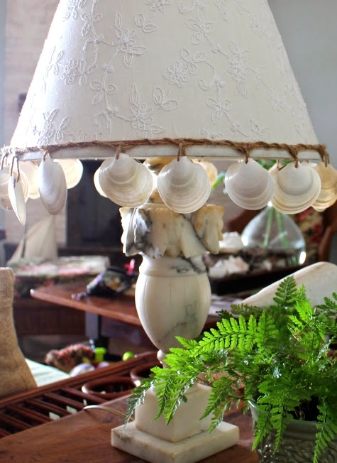shell fringe for lampshade