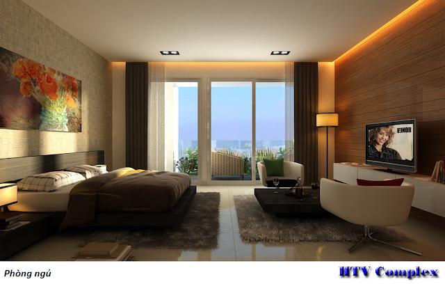 Phòng ngủ chung cư HTV Complex