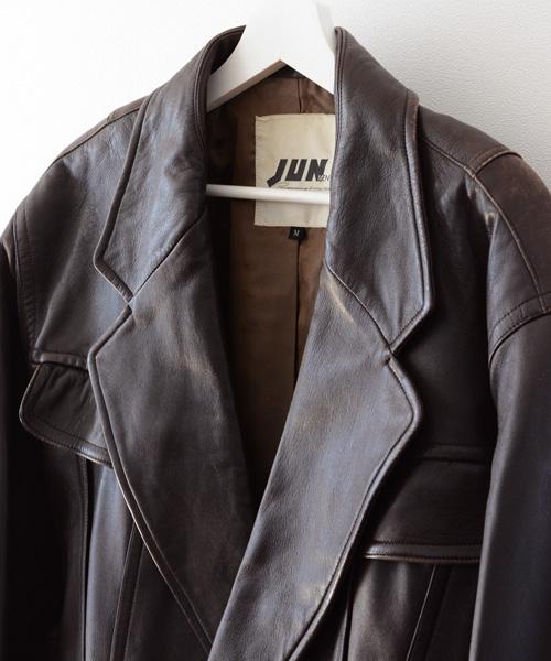 JUNMEN ジュンメン ジャパン ヴィンテージ レザー コート 80年代 FUNS