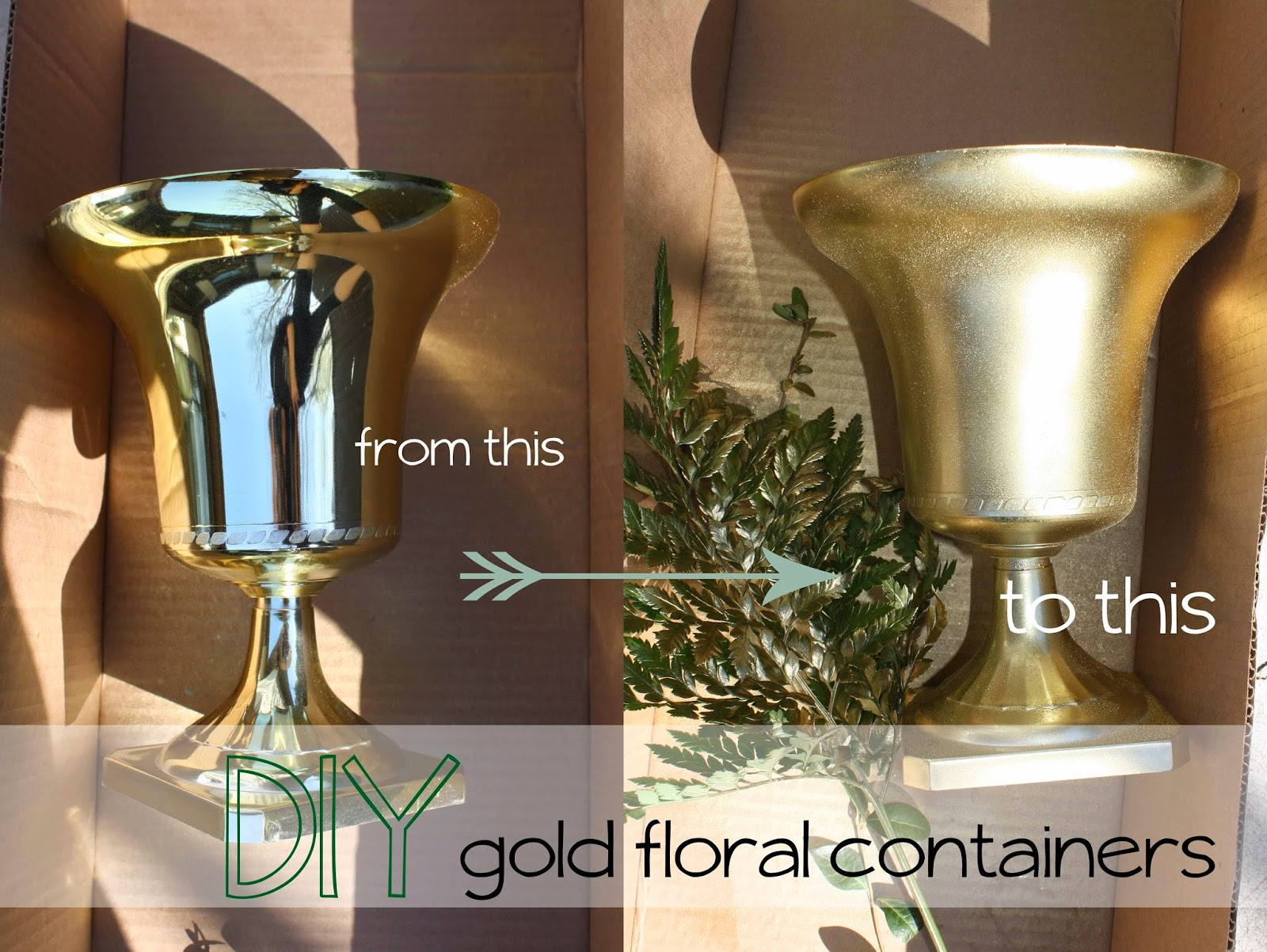 Rebecca Mansfield Floral Design Diy Gold Floral Containers