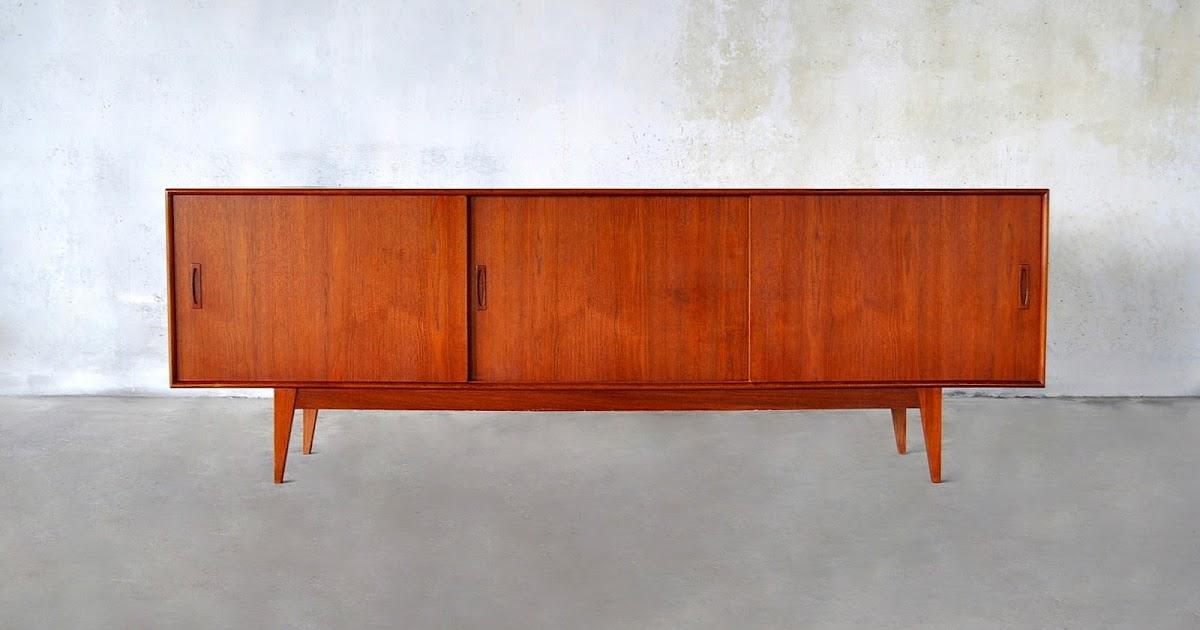 Select Modern Danish Modern Teak Credenza Bar Sideboard