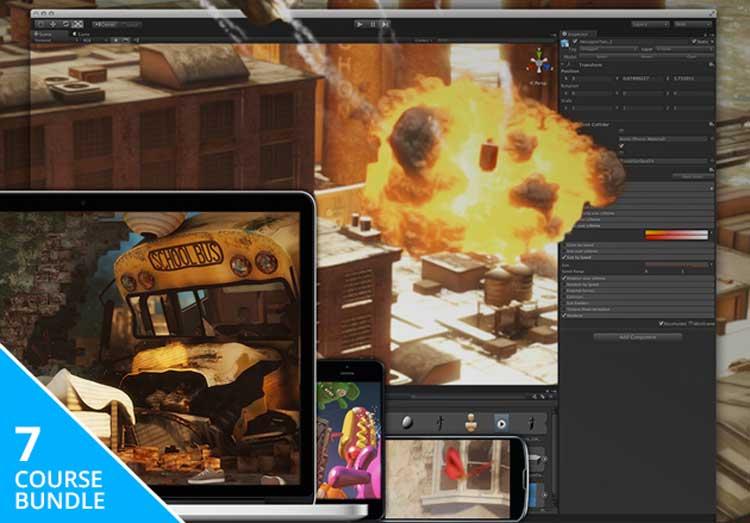 Unity3D Game Developer Course Bundle 7 Courses, 40+ Hours of Content: Build Quality Mobile Games w/ Unity 3D
