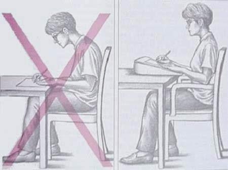 lectura atril silla postura estudio