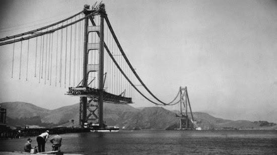 Golden Gate Bridge em construção
