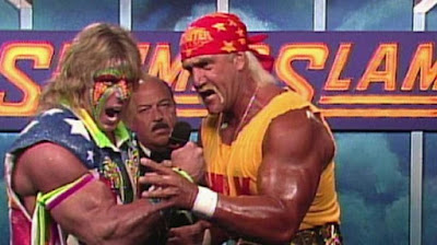WWF SummerSlam 1991 Hulk Hogan Ultimate Warrior Interview Mene Gene Okerlund