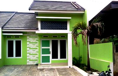 Perpaduan 2 Warna Cat Hijau Rumah Minimalis Tampak Depan Untuk Hunian Masa Kini 1