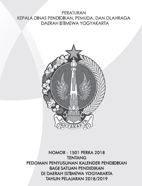 Kalender Pendidikan 2018/2019 Yogyakarta