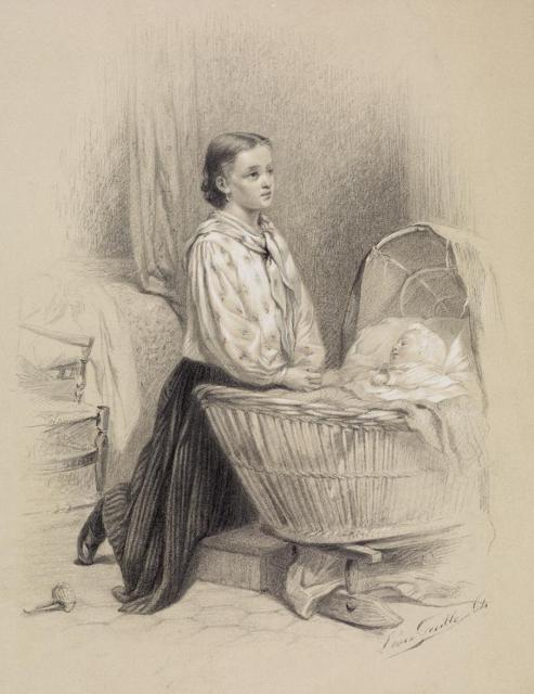 Женщина у колыбели