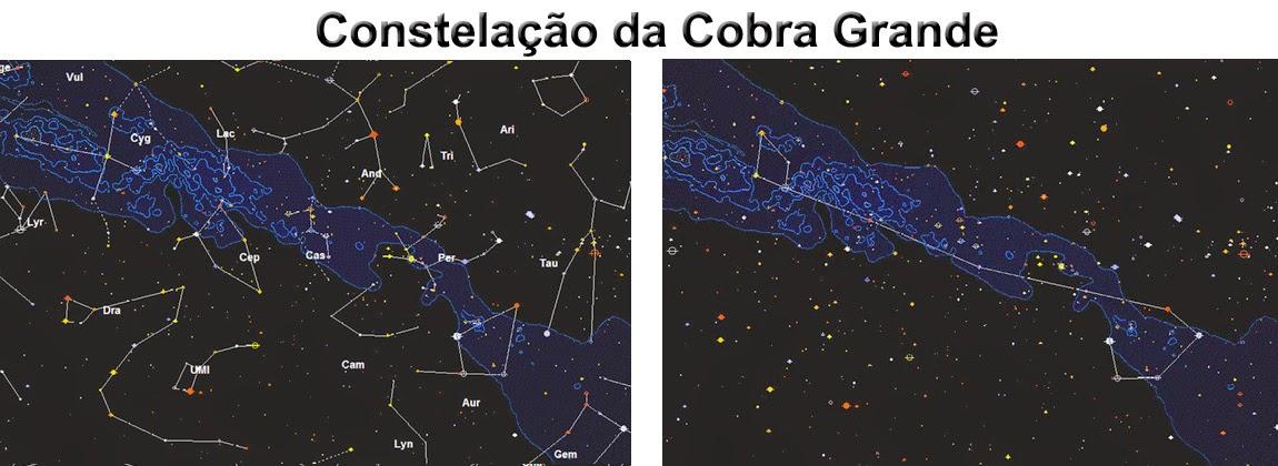 constelação da cobra grande -mboi guassu