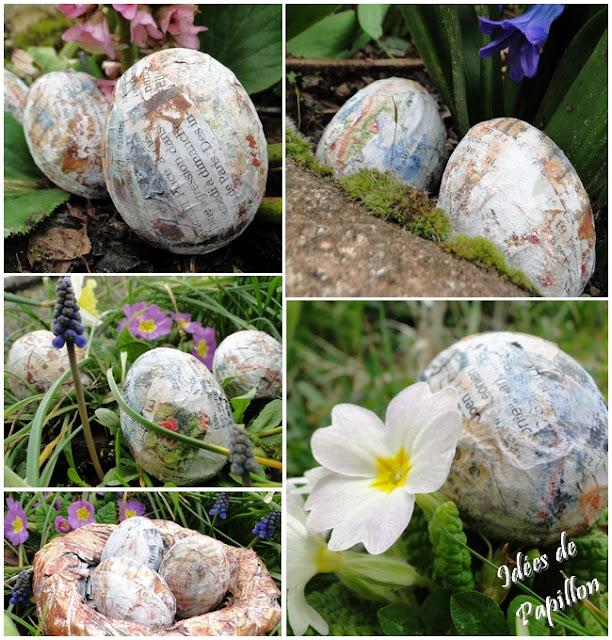 DIY de Pâques : oeuf en papier maché