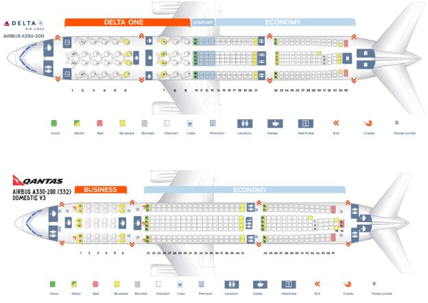 Airbus A330-200 seats