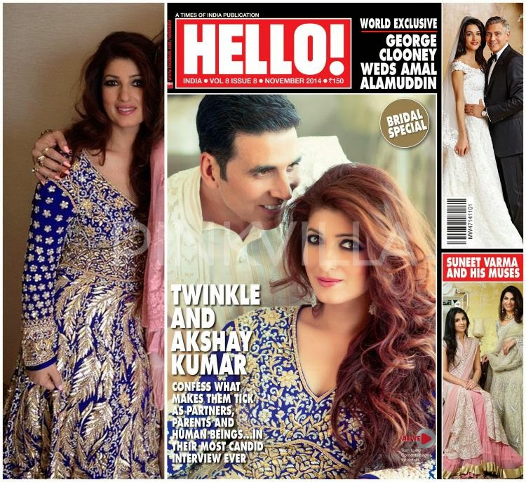 Akshay Kumar and Twinkle Khanna Cover Hello! Magazine India