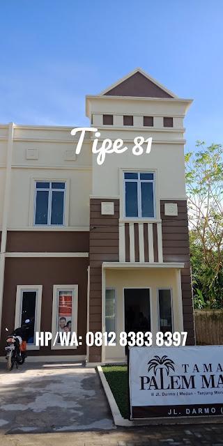 Rumah Contoh DP 0% Tipe 81 Di Taman Palem Mas Tanjung Morawa Medan