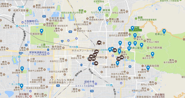 奈良-景點-推薦-地圖-MAP-市區-自由行-必玩-必遊-必去-旅遊-觀光-日本-Nara-Tourist-Attraction