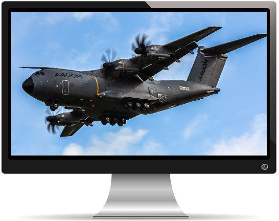 Avion Airbus A400M Atlas - Fond d'écran en Full HD 1080p