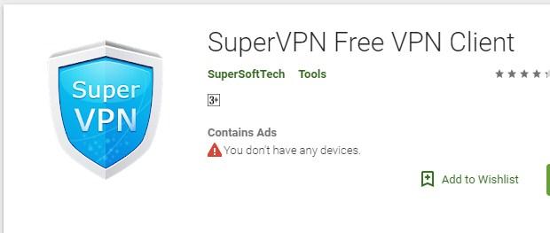 Internet Gratis SuperVPN Free VPN Client Terbaru 2019