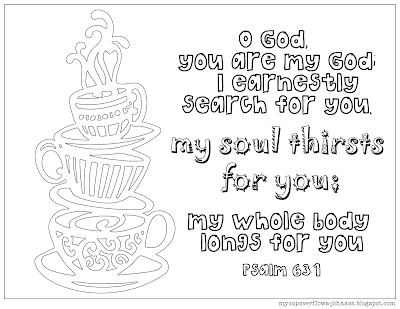 free coffee tea cup coloring pages my soul thirsts for you
