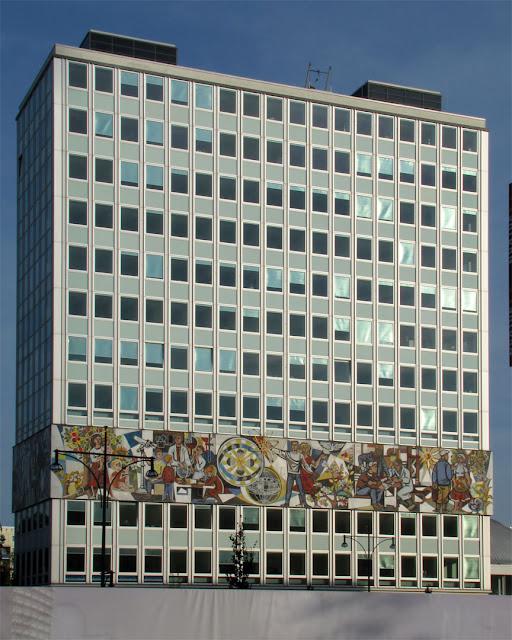 Haus des Lehrers (House of Teachers) by Hermann Henselmann, Alexanderstraße, Berlin