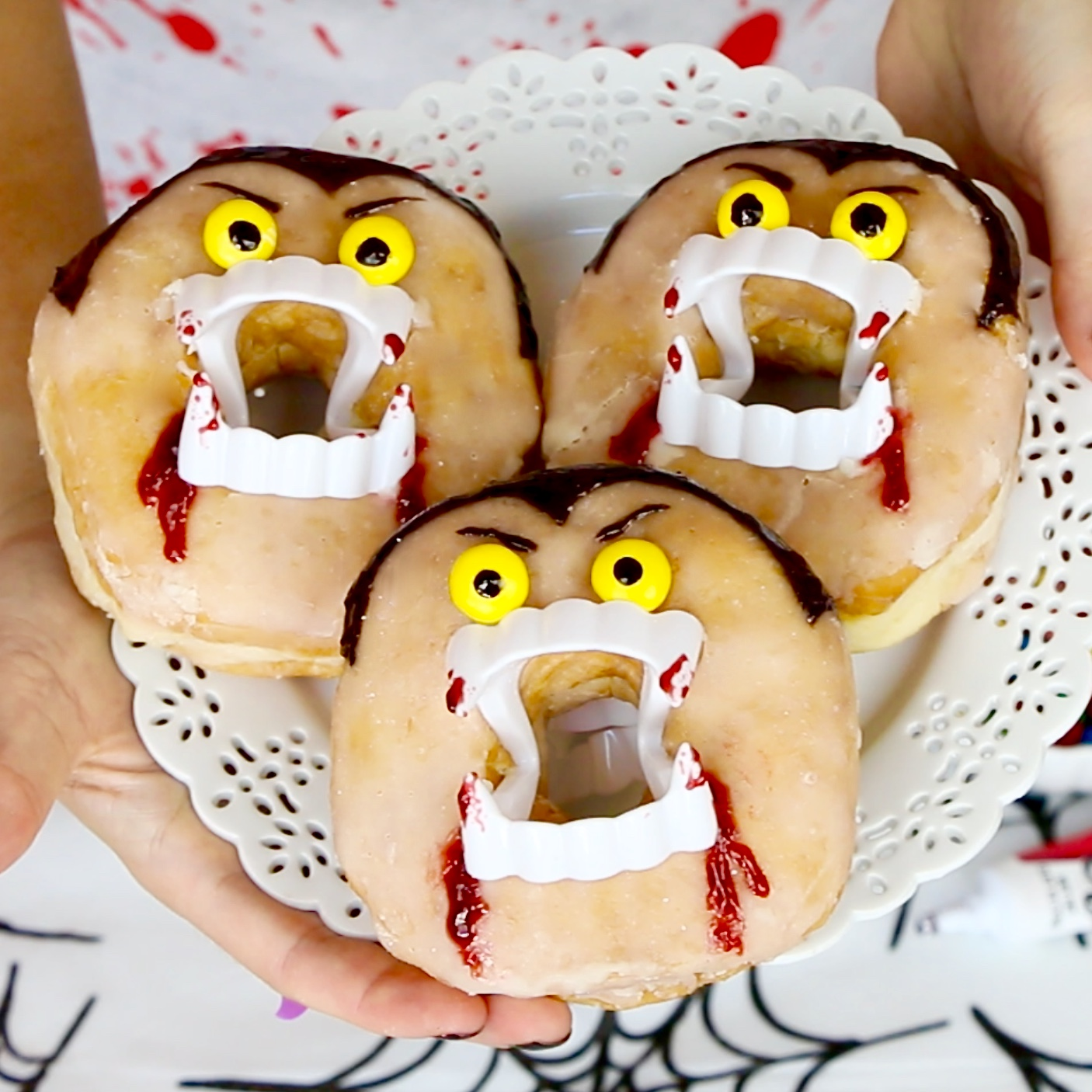 Video Halloween Vampire Doughnuts Dracula Donuts The