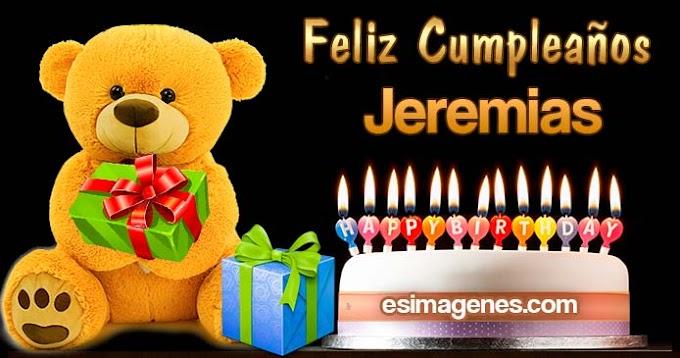 Feliz cumpleaños Jeremias