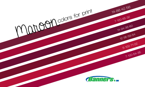 Maroon CMYK Color Mixes for Banner Printing
