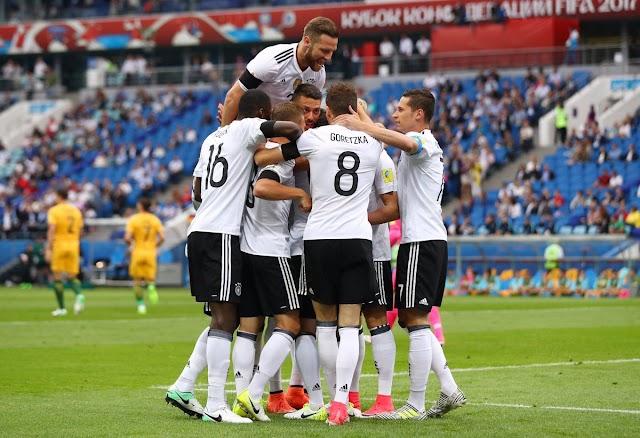 Em jogo apertado e de muitos gols, Alemanha supera a Austrália