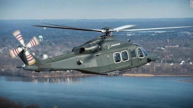 Một chiếc trực thăng quân sự do Boeing sản xuất