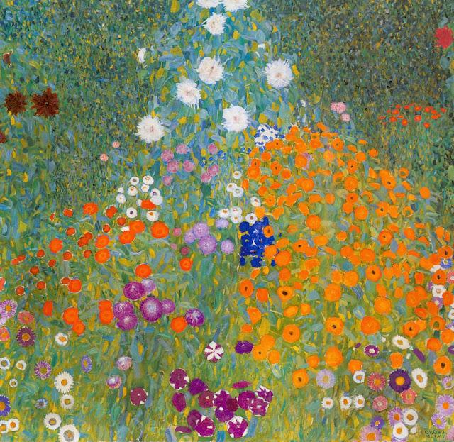 農家の庭 1907年 クリムト、官能と黄金の画家とは?クリムトの見ておきたい絵画14選【a】